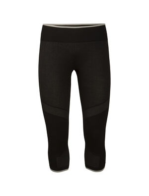 Womens Merino 200 Zone Seamless 3/4 Thermal Leggings Our highly technical midweight base layer bottoms with an innovative tubular merino knit and zone ventilation, the 200 Zone Seamless Legless are incredibly breathable and stretchy for high-output pursuits.