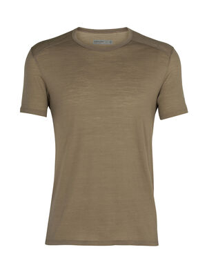 Mens Cool-Lite™ Merino Amplify Short Sleeve Crewe T-Shirt A technical tee that harnesses the natural performance of merino, the Amplify Short Sleeve Crewe is ready for everything, from daily runs to mountain hikes, thanks to our Cool-Lite™ fabric.