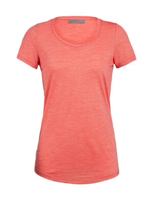 Womens Cool-Lite™ Sphere Short Sleeve Scoop A super-soft women's short sleeve merino wool T-shirt with modern style and a low scoop neck design, the Sphere Short Sleeve Scoop is a light and comfortable summer tee with our cool-lite™ jersey fabric.