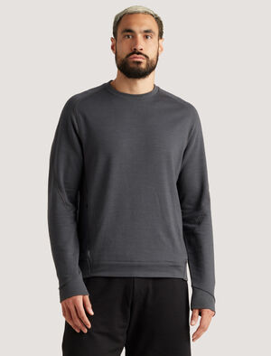 Mens icebreaker City Label Merino Sweatshirt A timeless classic, the Merino Sweatshirt is made for relaxing, exploring and everything in between. The warm and breathable merino fibres stay fresh for longer and the touch of LYCRA® adds stretchy comfort.