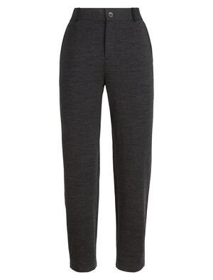 Femme Tech Pants Pantalon pour femme en laine mérinos douce et confortable avec une touche de Lycra® offrant de l'extensibilité, les Tech Pants présentent un style raffiné et urbain.