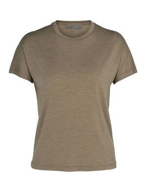 Damen Cool-Lite™ Merino Utility Explore kurzärmliges T-Shirt mit Rundhalsausschnitt Stripe Ein weiches und atmungsaktives Merino T-Shirt für tägliche Abenteuer, das kurzärmlige Utility Explore T-Shirt mit Rundhalsausschnitt Stripe wird aus unserem Cool-Lite™ mit einer legeren Passform gefertigt.