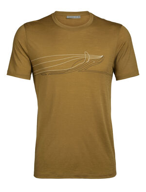 Merino Tech Lite Short Sleeve Crewe T-Shirt Single Line Whale