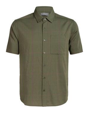男款 Cool-Lite™美丽诺羊毛Compass短袖衬衫 Compass法兰绒短袖衬衫将经典的衬衫款式和现代的天然面料相结合,是一款适合旅行或日常穿着的轻盈梭织美丽诺羊毛男款衬衫。