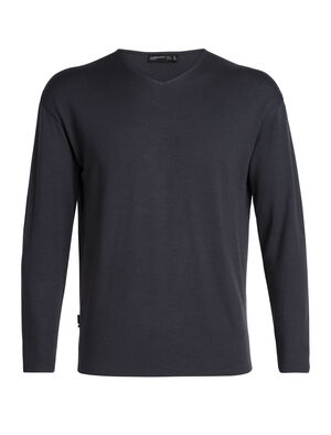 Homme 旅 TABI Deice Long Sleeve V Made with midweight 100% merino wool jersey fabric, the Deice Long Sleeve V is a comfortable and stylish sweatshirt designed in collaboration with Japanese apparel house GOLDWIN.
