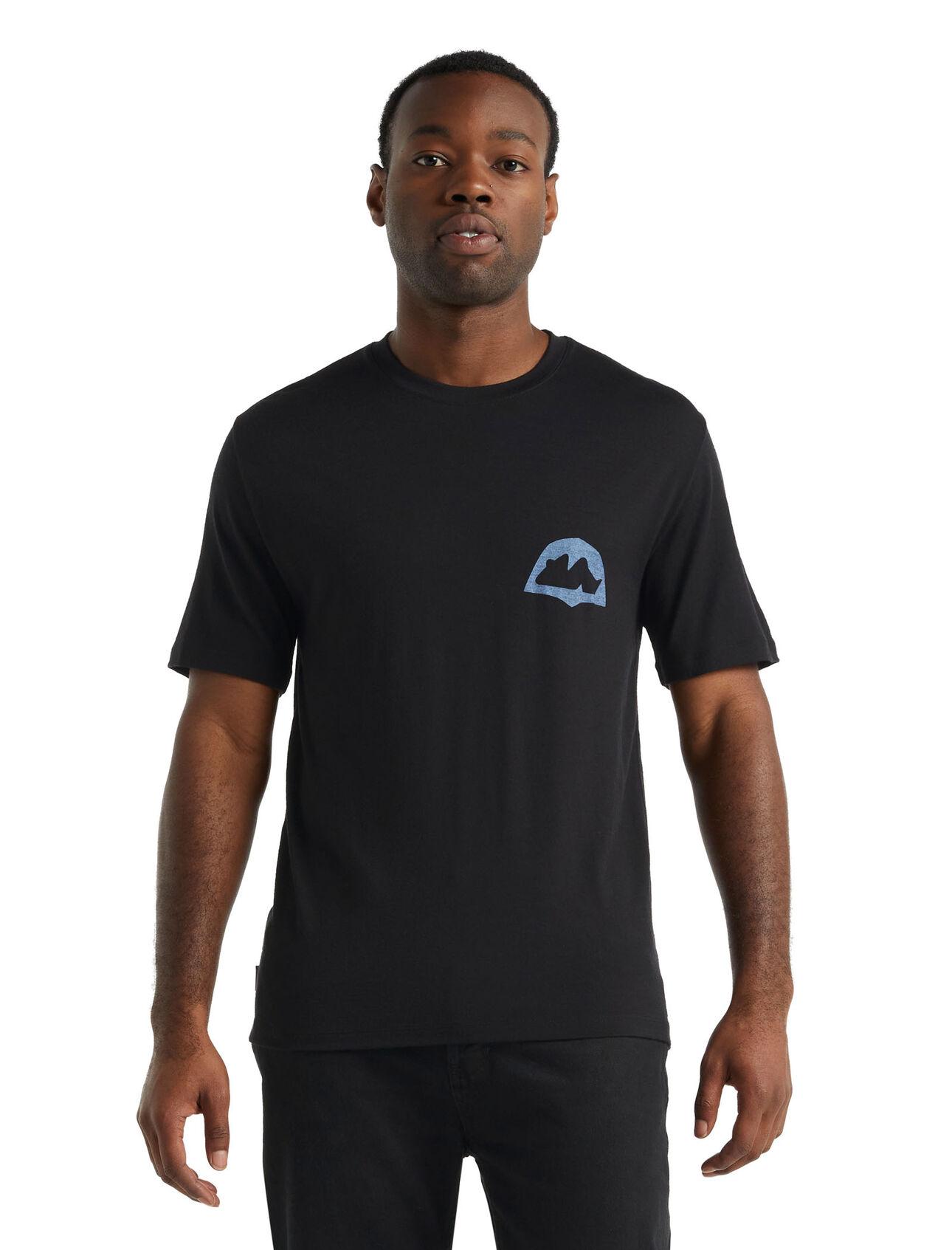 icebreaker x Antra Svarcs Merino Short Sleeve T-Shirt Moon Reflection