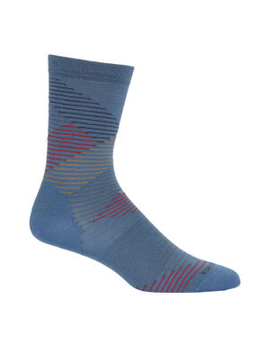 Womens Merino Lifestyle Fine Gauge Crew Socks Dashes Lightweight and soft for everyday comfort, the Lifestyle Fine Gauge Crew Dashes socks are made with luxurious, fine-gauge merino wool, with reinforced heels and toes.