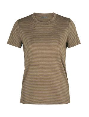 Merino Dowlas kurzärmliges T-Shirt mit Rundhalsausschnitt Stripe
