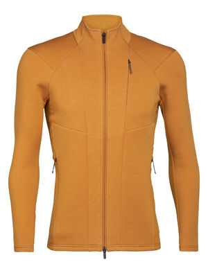 Mens Merino Lucca Long Sleeve Zip Jacket A heavyweight mid layer fleece designed for incredible warmth with amplified breathability in cold conditions, the Lucca Long Sleeve Zip features our innovative spacer mesh fabric for enhanced insulation.