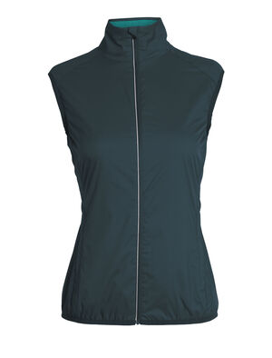 Womens Cool-Lite™ Rush Vest A weather-resistant women's windbreaker vest ideal for running, biking or training, the Rush Vest features an ultralight shell fabric with a soft merino wool mesh lining. The vest also stows inside its left hand pocket for highly packable protection you can take just about anywhere.