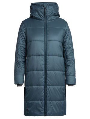 Womens Collingwood 3Q Hooded Jacket Insulated with our innovative 180gm MerinoLOFT™ insulation, the Collingwood ¾ Hooded Jacket is a women's merino wool puffy jacket with a longer cut, sustainable design, and clean, modern style.