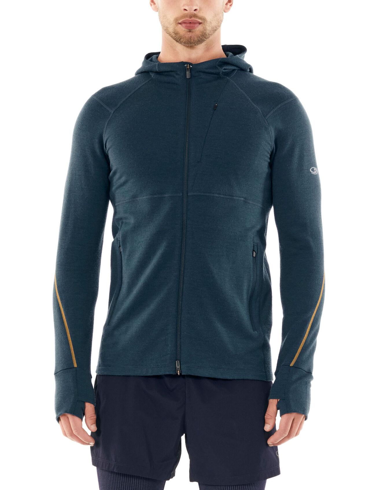 Icebreaker Mens Quantum II Long Sleeve Zip Hood