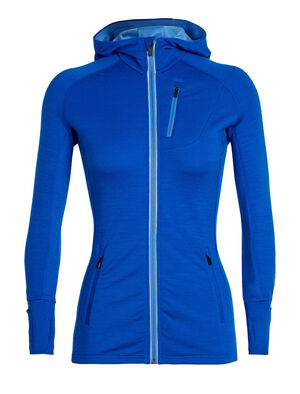 Womens Quantum Long Sleeve Zip Hood A stretchy hooded women's merino wool midlayer for climbing, skiing and other technical mountain adventures, the Quantum Long Sleeve Zip Hood features body-mapped fabric for insulation, breathability and comfort during high-output pursuits.