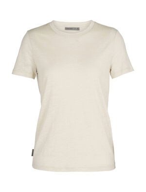 Womens Merino Dowlas Short Sleeve Crewe T-Shirt Clean, classic and made with a 100% natural fiber blend of merino wool and linen, the Dowlas Short Sleeve Crewe is an everyday favorite for lightweight comfort.