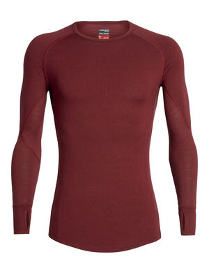 Mens BodyfitZONE™ 260 Zone Long Sleeve Crewe A heavyweight men's merino wool base layer shirt for highly aerobic days in cold conditions, the 260 Zone Long Sleeve Crewe features zoned ventilation panels for active temperature regulation and ample breathability.