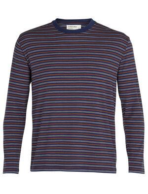 美丽诺羊毛150长袖圆领条纹T恤