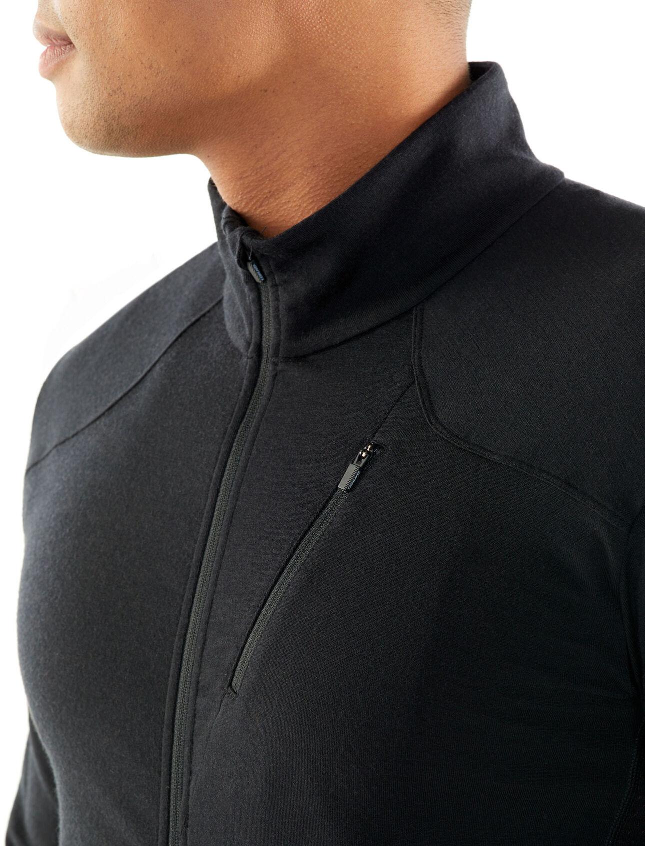 Mens Merino Fluid Zone Long Sleeve Zip Jacket Icebreaker