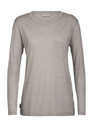 Womens Nature Dye Merino Drayden Long Sleeve Pocket Crewe T-Shirt Featuring our highly breathable Cool-Lite™ fabric and dyed using natural, sustainably sourced plant pigments, the Nature Dye Drayden Long Sleeve Pocket Crewe is a casual yet conscious T-shirt.