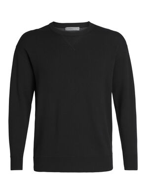 Mens Carrigan Sweater Sweatshirt This midweight crew-style pullover combines the soft, breathable comfort of a merino wool sweater with the classic and reliable, relaxed style of your favorite sweatshirt. It maintains reliable warmth with a clean and classic look wherever you go.