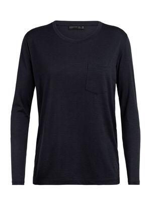 T-shirt manches longues, col rond et poche Tech Lite