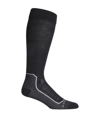 Mens Merino Ski+ Ultralight Over the Calf Socks Stretchy and supportive merino socks for technical performance on snow, our minimally cushioned Ski+ Ultralight Over the Calf socks are durable, breathable, and comfortable, with anatomical support in key areas.