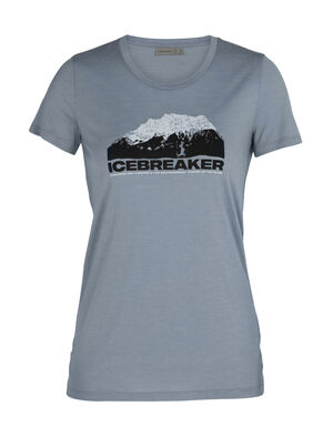 Womens Merino Tech Lite Short Sleeve Low Crewe T-Shirt Icebreaker Mountain Our most versatile merino tech tee, the Tech Lite Short Sleeve Low Crewe icebreaker Mountain is stretchy, highly breathable, and odor-resistant, with original graphic artwork by Nathan Dunn inspired by New Zealand's scenic South Island.