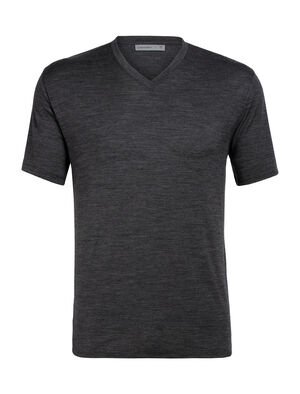 Mens Merino Ravyn Short Sleeve V Neck T-Shirt  A classic V-neck T-shirt for everyday comfort and style, the Ravyn Short Sleeve V harnesses the natural benefits of merino wool, with enhanced durability from corespun fibers.