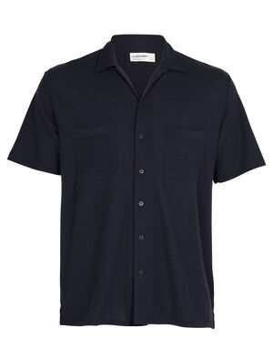 Mens Merino 180 Pique Open Collar Shirt A lightweight and laidback shirt with a relaxed fit, the 180 Pique Open Collar Shirt features a rugged yet stylish design and 100% soft and breathable merino wool fabric.