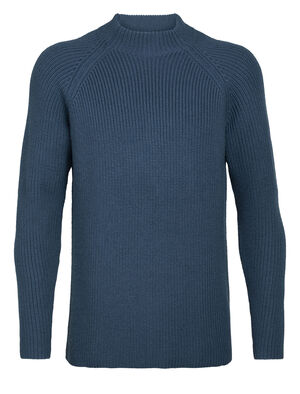 Mens Merino Hillock Funnel Neck Sweater A stylish everyday knit sweater with a high-neck design for added warmth in cold conditions, the Hillock Funnel Neck Sweater embodies the natural benefits of 100% merino wool.
