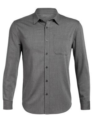 Mens Cool-Lite™ Compass Flannel Long Sleeve Shirt A lightweight woven men's merino wool flannel shirt for travel or daily life, the Compass Flannel Long Sleeve Shirt combines classic style with modern natural fabrics.