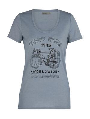 美丽诺羊毛Tech Lite短袖低圆领T恤(Tour Club 1995)
