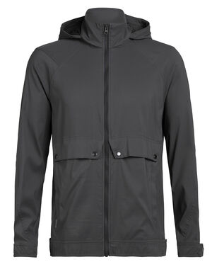 Mens Briar Hooded Jacket A casual men's merino wool travel jacket with a durable nylon shell, the Briar Hooded Jacket stands up to both the light elements and the ins and outs of travel.