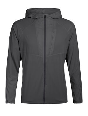 Mens Tropos Hooded Windbreaker A lightweight windshell made with recycled content and a moisture-wicking merino wool corespun lining, the Tropos Hooded Windbreaker shed light elements while keeping you comfortable.