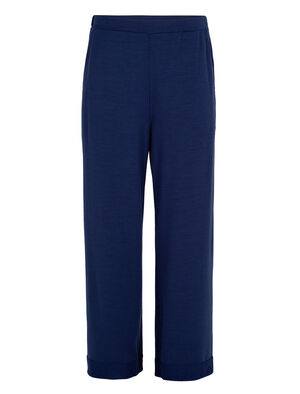 Womens Merino Wide Pants A relaxed-fit, wide-leg pant made with our terry corespun fabric and a touch of LYCRA® for stretch, the Merino Wide Pants are stylish and comfortable with the natural benefits of merino.
