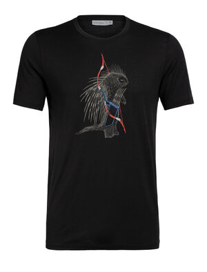 Mens Tech Lite Short Sleeve Crewe Quill Our most versatile tech tee, in breathable, odour-resistant merino wool. Artist Damon Watters reinterprets a porcupine 'shooting its quills', in our whimsical animal series.