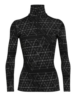 Womens Merino 250 Vertex Long Sleeve Half Zip Thermal Top Ice Structure Our midweight, 100% merino wool base layer top for optimal comfort and breathability in cold conditions, the 250 Vertex Long Sleeve Half Zip Ice Structure offers a unique look and feel.