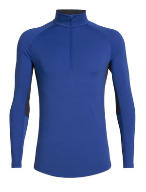 Mens BodyfitZONE™ 200 Zone Long Sleeve Half Zip A lightweight men's merino wool base layer shirt with a zip-neck design, the 200 Zone Long Sleeve Half Zip features strategic mesh panels for active ventilation.