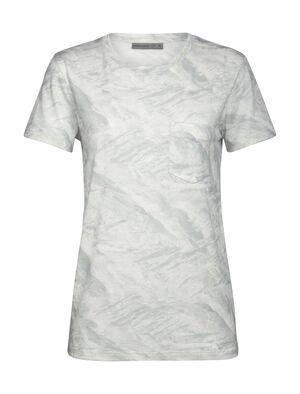 Merino 200 Short Sleeve Pocket Crewe Thermal T-Shirt IB Glacier