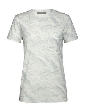 T-shirt manches courtes, col rond et poche 200 IB Glacier