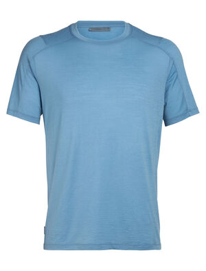 Mens Nature Dye Merino Galen Short Sleeve Crewe T-Shirt A lightweight men's T-shirt dyed with natural plant pigments, the nature dye Galen Short Sleeve Crewe is comfortable and versatile for home or travel.