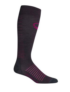 Ski+超薄压缩及膝滑雪袜