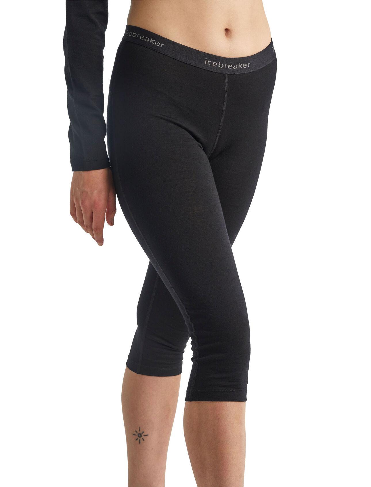 Donna Icebreaker Merino 200 Oasis Cold Weather Leggings Wool Base Layer Thermal Pants