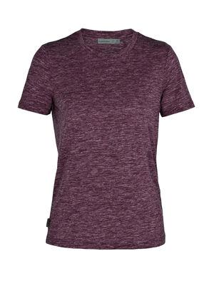 Merino Dowlas kurzärmliges T-Shirt mit Rundhalsausschnitt