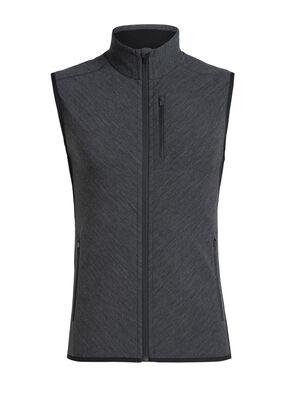 男款 Descender马甲 Descender马甲是一款蕴含先进技术的美丽诺羊毛中层抓绒衫,提供核心部位有效保暖,专为冷天进行户外有氧运动而设计。