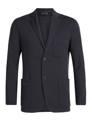 Mens Merino Tech Blazer This sleek blazer features modern aesthetics with a soft, breathable and stretchy blend of merino wool and LYCRA®—an ideal everyday layering piece for the office or cool-weather style and comfort.