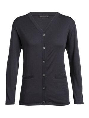 Femme Cardigan Oasis  Haut à boutonnière classique intégrant notre tissu naturel 100% mérinos, le cardigan Oasis est léger, polyvalent et plein de style.