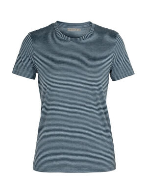 Womens Merino Dowlas Short Sleeve Crewe Stripe T-Shirt Clean, classic and made with a 100% natural fiber blend of merino wool and linen, the Dowlas Short Sleeve Crewe Stripe is an everyday favorite for lightweight comfort.