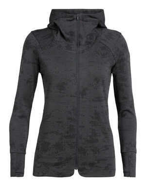 Womens Away II Long Sleeve Zip Hood A versatile women's merino wool mid layer fleece, the Away II Long Sleeve Zip Hood is a warm, breathable and odor-resistant jacket for adventures near and far.