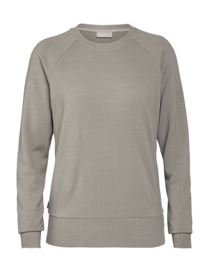 Womens Merino Nature Dye Helliers Long Sleeve Crewe Sweatshirt A classic daily pullover sweatshirt made with our merino wool RealFLEECE® fabric, the Nature Dye Helliers Long Sleeve Crewe is dyed with natural plant pigments.