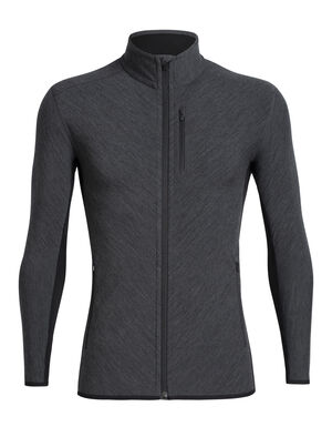 Mens RealFleece® Merino Descender Long Sleeve Zip Jacket A technical mid layer for cold, aerobic days outside, the Descender Long Sleeve Zip features our merino wool RealFLEECE® for premium warmth and breathability.
